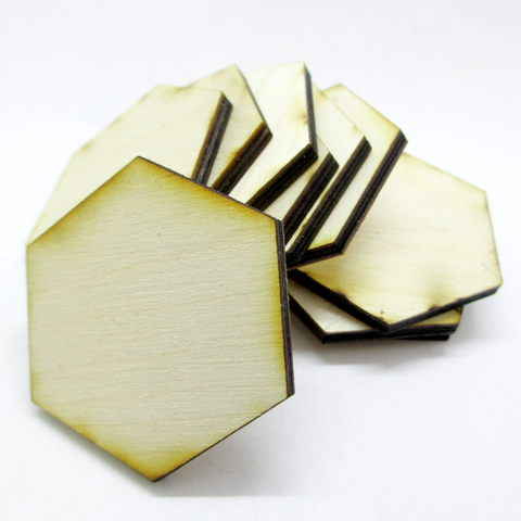 1.5 inch Hexagon Plywood Miniature Bases