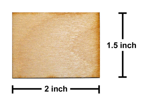 1.5 x 2 Inch Plywood Miniature Bases