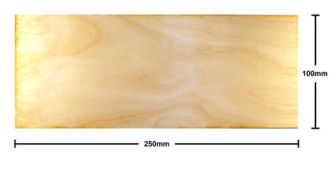 100mm x 250mm Plywood Miniature Bases