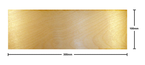 100mm x 300mm Plywood Miniature Bases