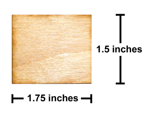 1.5 inch x 1.75 inch Plywood Miniature Bases