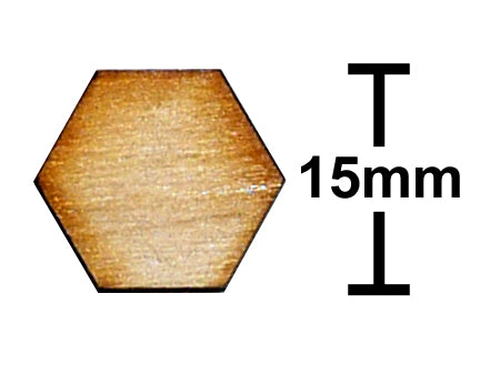 15mm Hexagon Plywood Miniature Bases