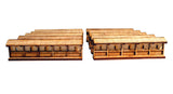 Japanese Wooden Wall Sections Pack (x10)