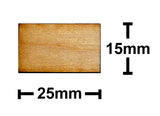15mm x 25mm Plywood Miniature Bases