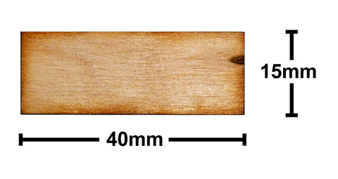 15mm x 40mm Plywood Miniature Bases
