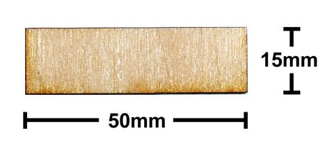 15mm x 50mm Plywood Miniature Bases