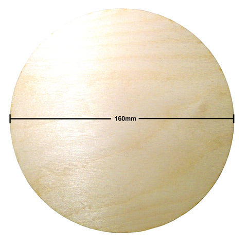 160mm Diameter Plywood Miniature Bases