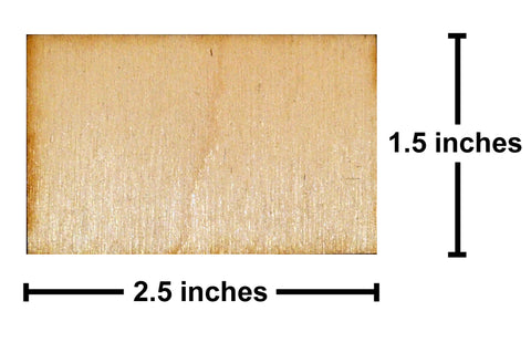 1.5 x 2.5 Inch Plywood Miniature Bases