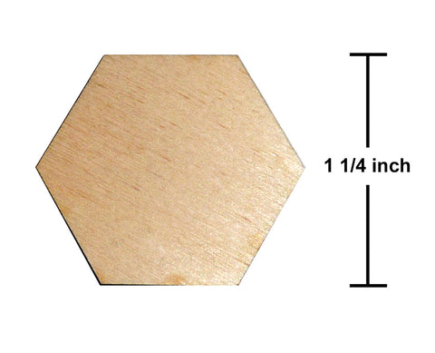 1.25 Inch Hexagon Plywood Miniature Bases