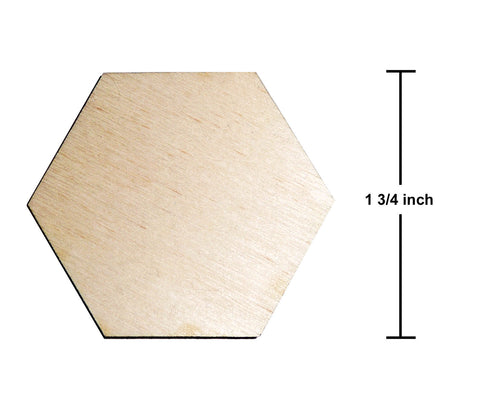 1.75 Inch Hexagon Plywood Miniature Bases