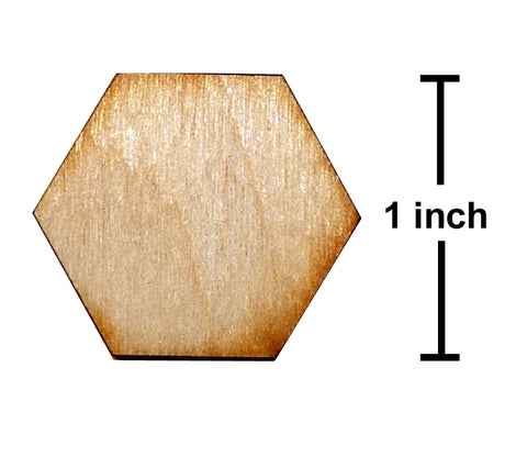 1 Inch Hexagon Plywood Miniature Bases