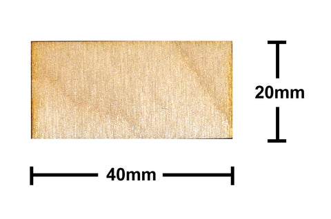20mm x 40mm Plywood Miniature Bases
