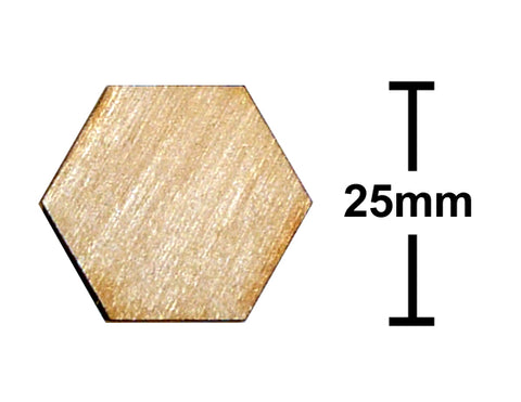 25mm Hexagon Plywood Miniature Bases