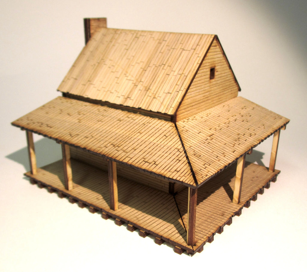 28mm Early American Small House Tre Games