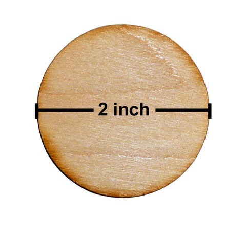 2 Inch Diameter Plywood Miniature Bases