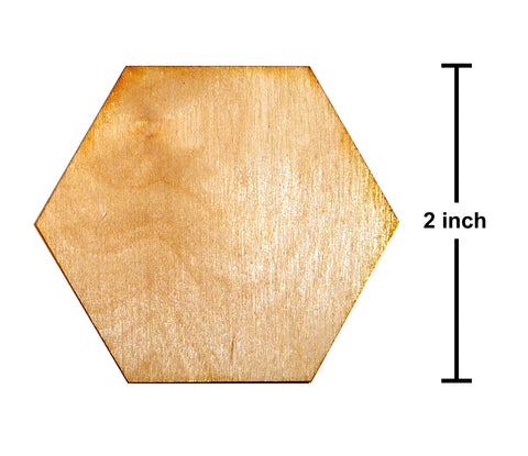 2 Inch Hexagon Plywood Miniature Bases