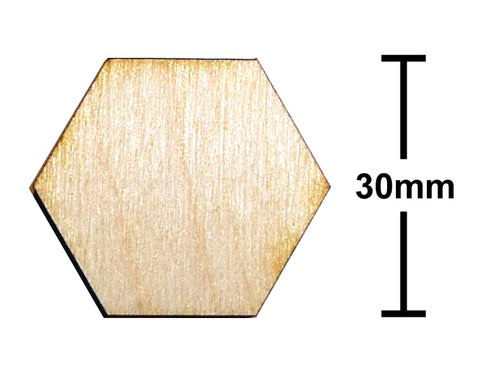 30mm Hexagon Plywood Miniature Bases