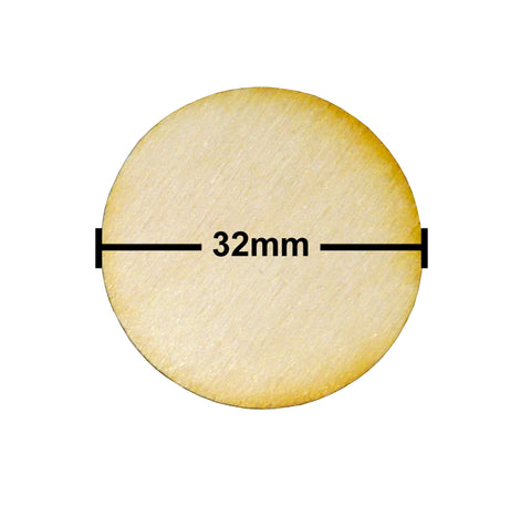 32mm Diameter Plywood Miniature Bases