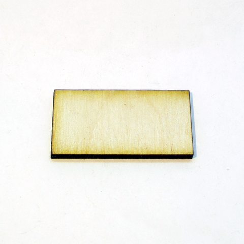 0.75 x 1.5 inch Plywood Miniature Bases