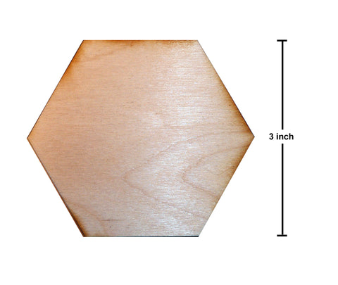 3 Inch Hexagon Plywood Miniature Bases