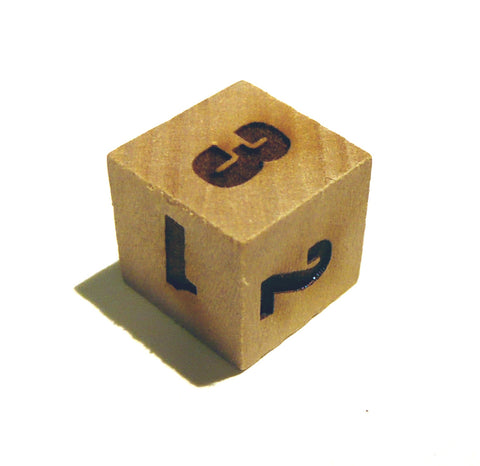Wooden 3 Sided Dice
