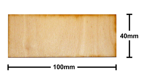 40mm x 100mm Plywood Miniature Bases
