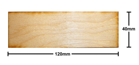 40mm x 120mm Plywood Miniature Bases