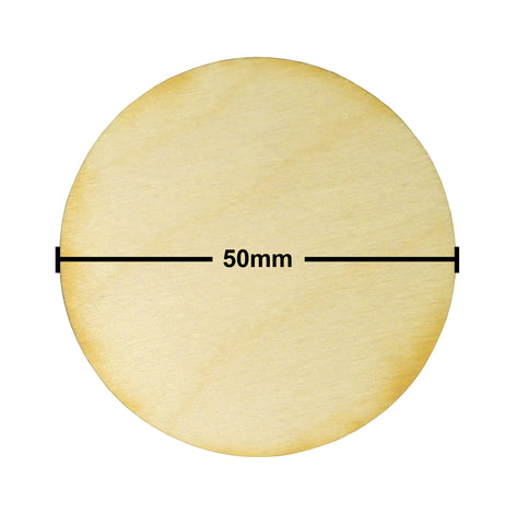 50mm Diameter Plywood Miniature Bases