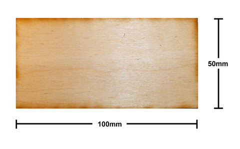 50mm x 100mm Plywood Miniature Bases