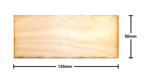 50mm x 120mm Plywood Miniature Bases