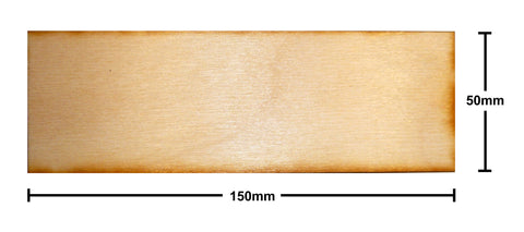 50mm x 150mm Plywood Miniature Bases