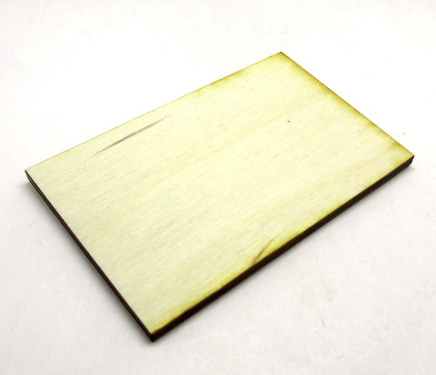 50mm x 80mm Plywood Miniature Bases