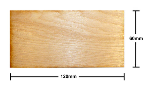 60mm x 120mm Plywood Miniature Bases