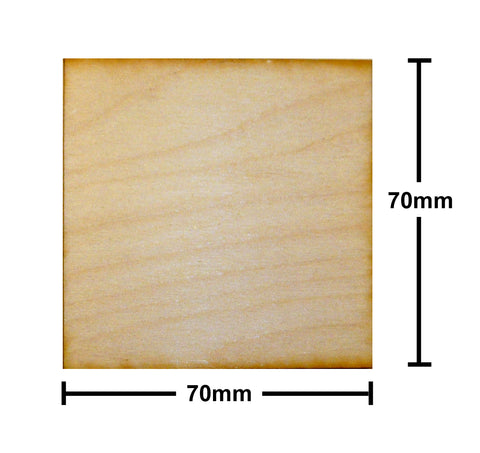 70mm x 70mm Plywood Miniature Bases