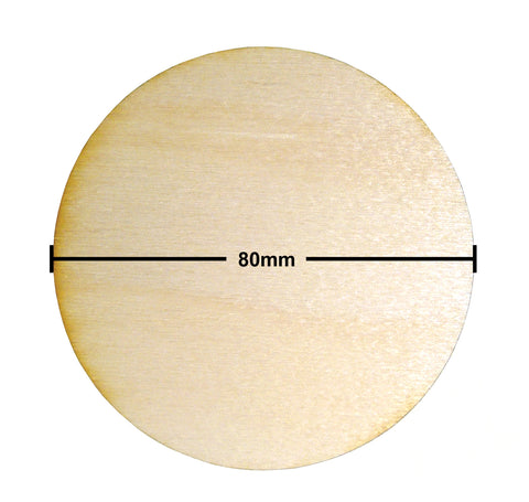 80mm Diameter Plywood Miniature Bases