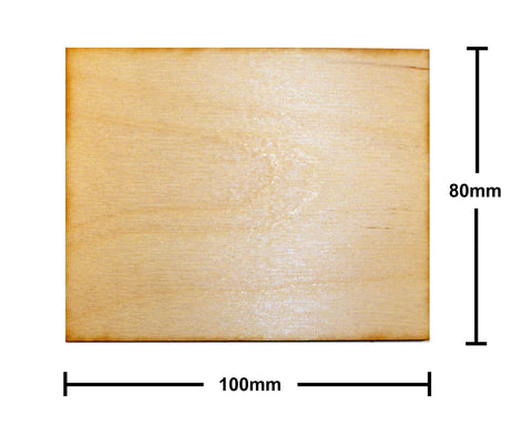80mm x 100mm Plywood Miniature Bases