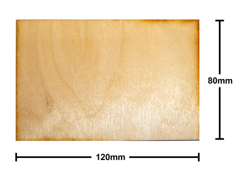 80mm x 120mm Plywood Miniature Bases