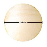 90mm Diameter Plywood Miniature Bases