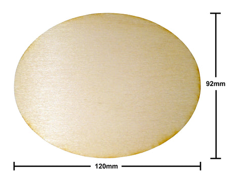 92mm x 120mm Oval Plywood Miniature Bases