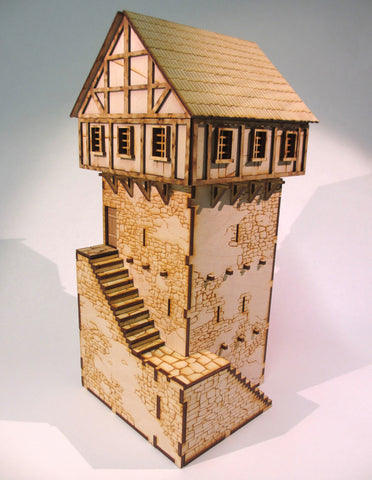 28mm Medieval Town Tower