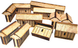 28mm Japanese Wooden Walls without Firing Platforms