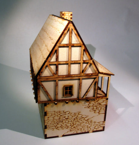 28mm Medieval Fortified Town Building