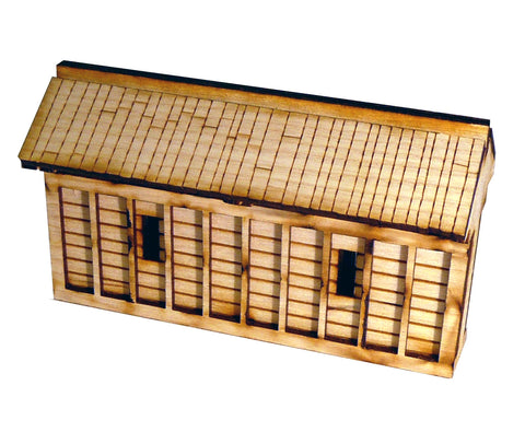 28mm Japanese Wooden Walls Half Sections (x2)