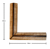 Japanese Wooden Wall Corner Long Section (x1)