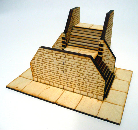 28mm Warehouse District Front Stairs