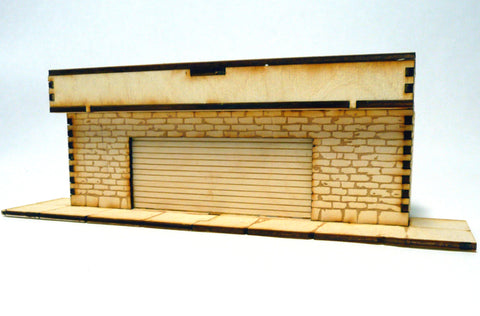28mm Warehouse District Small Garage