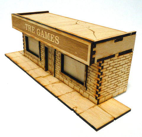28mm Warehouse District Shop Front