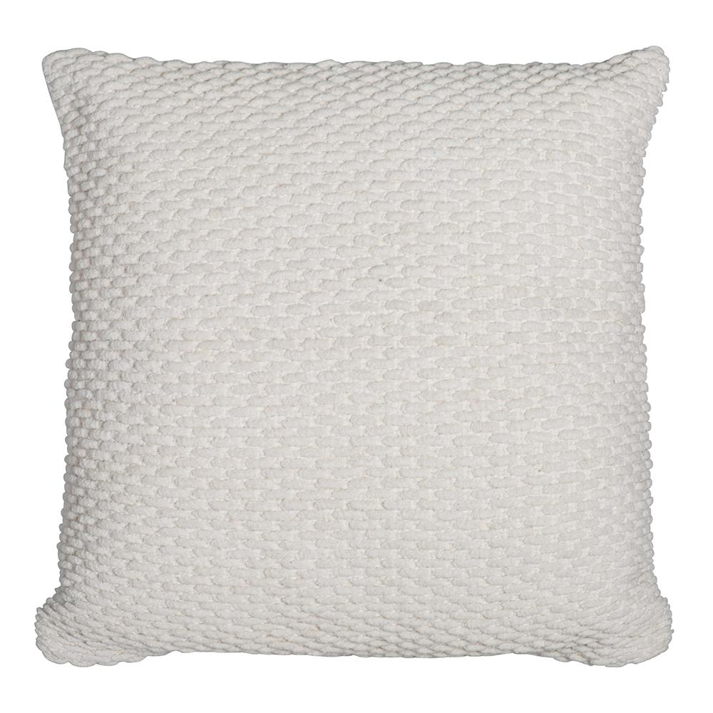 APOLLO CHENILLE CUSHION 50X50CM IVORY