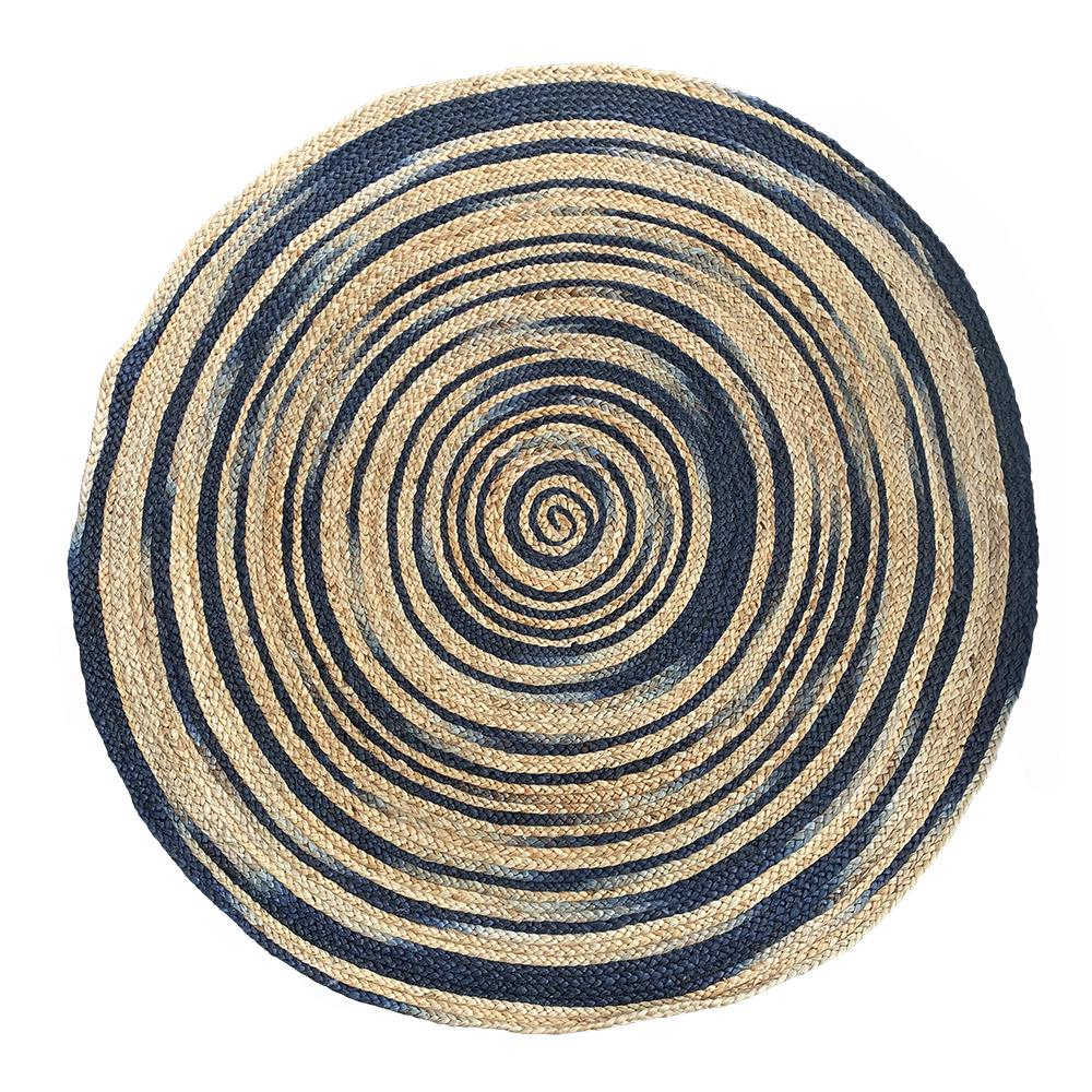 BALO RUG 120CM NATURAL / NAVY