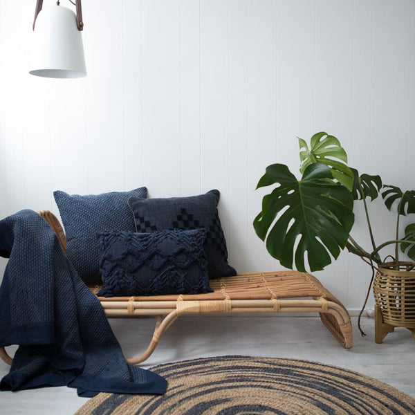 BALO RUG 120CM NATURAL NAVY